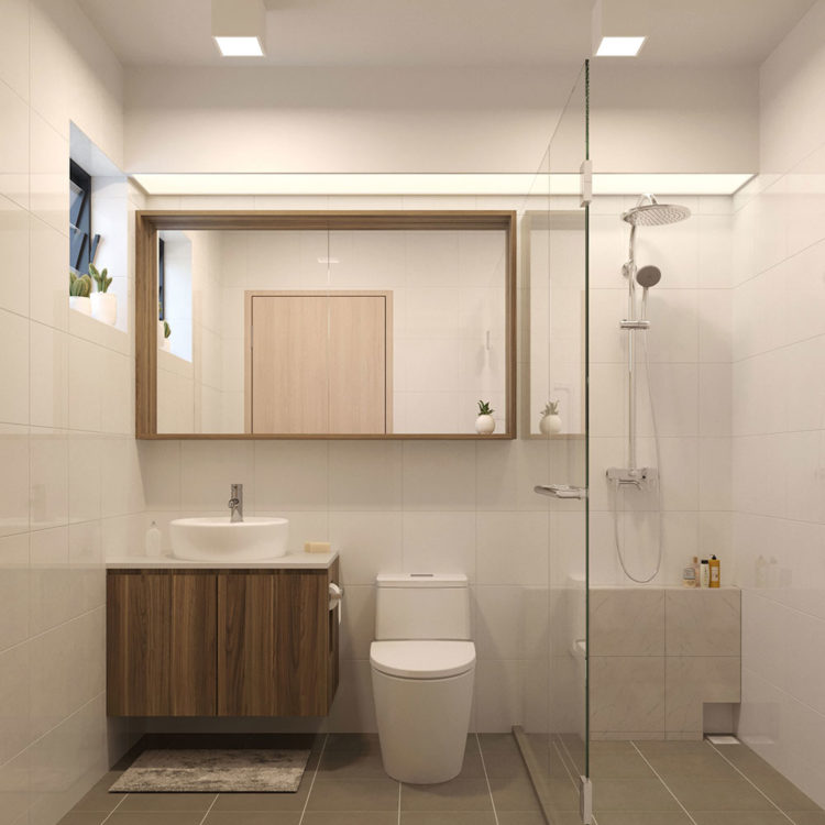 186A Bedok North St 4 HDB 5 Room BTO Bathroom View 1