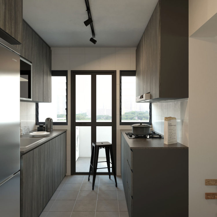 451A Bukit Batok West Ave 6 Kitchen Design View 1