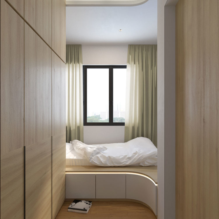 Alex Residences Bedroom Design View 1